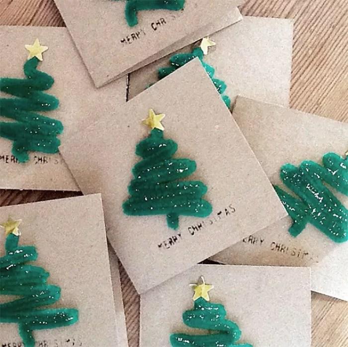 DIY tarjeta de navidad
