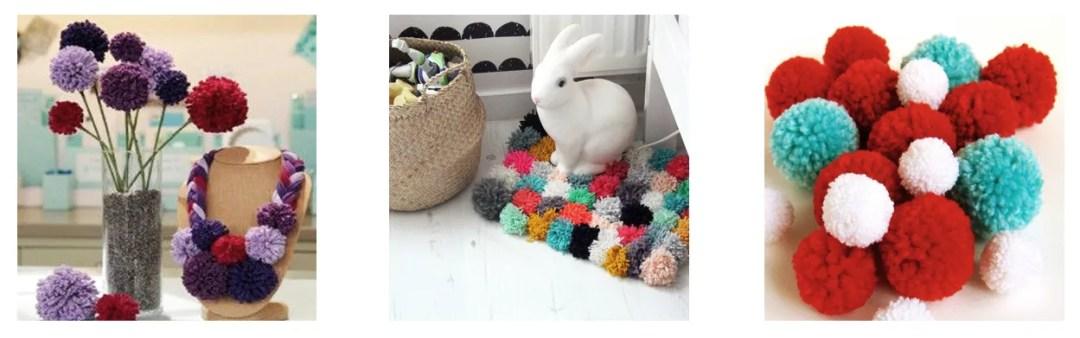 DIY pompones de lana