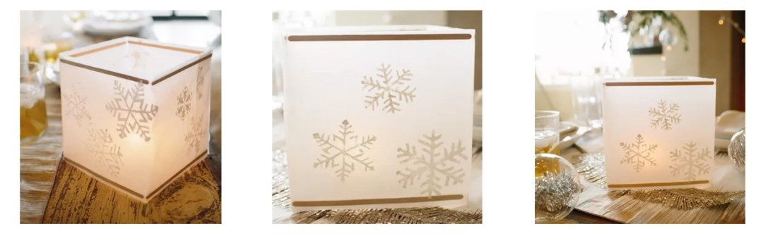 portavelas navideño de papel