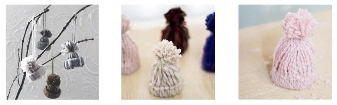 Gorros de lana decorativos DIY