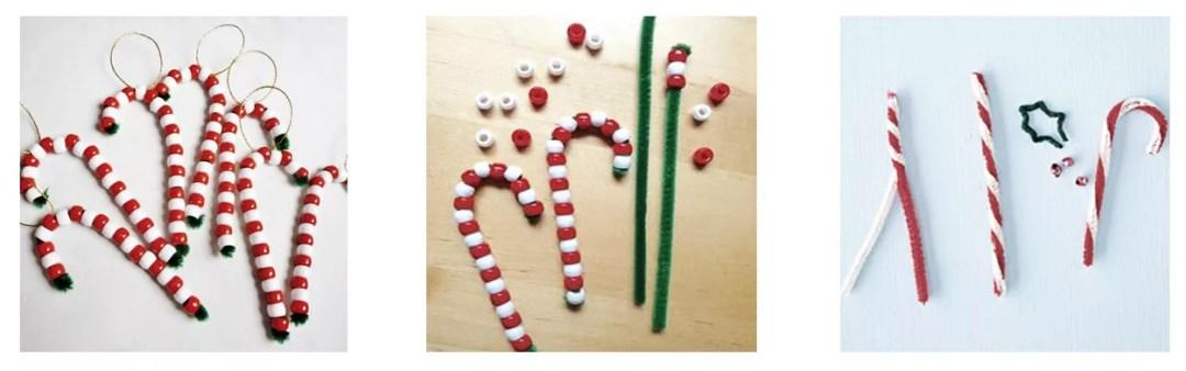 Bastones navideños con limpiapipas