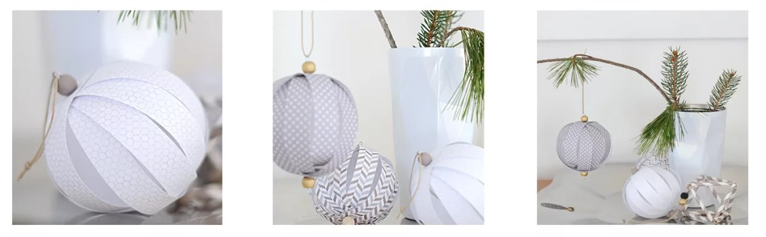 bola de navidad con tiras de papel