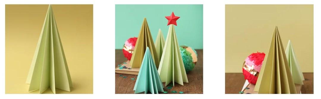 diy árbol navideño con papel