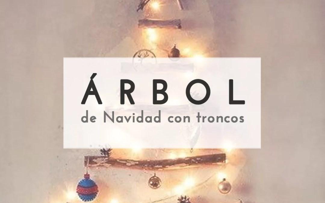 ÁRBOL DE NAVIDAD CON TRONCOS