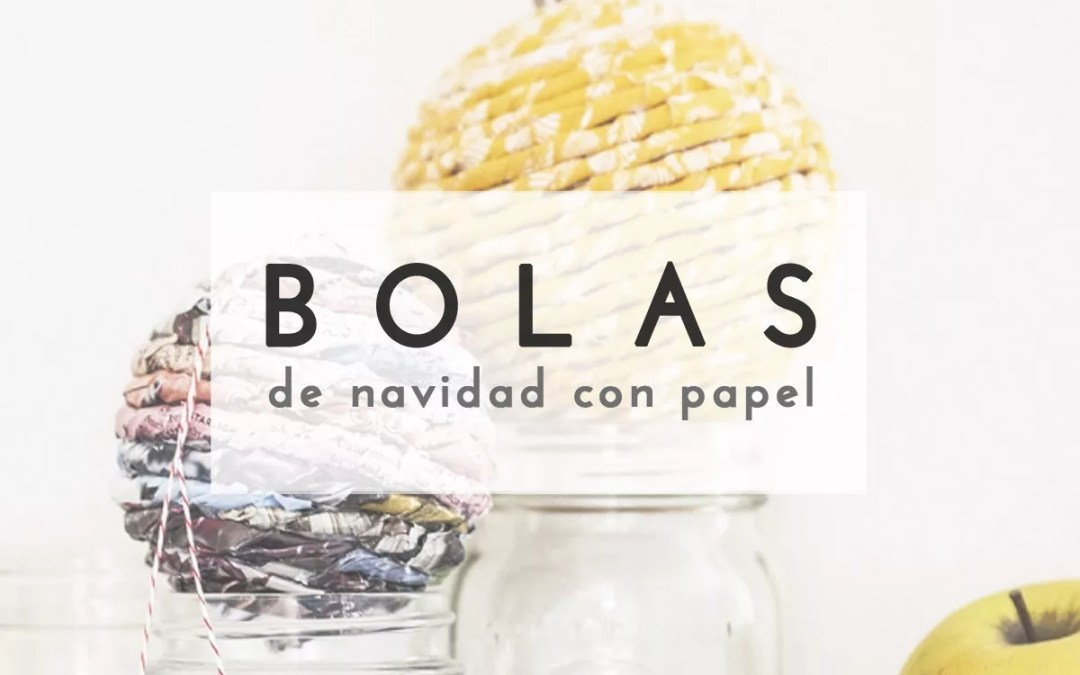 BOLA NAVIDEÑA DE PAPEL