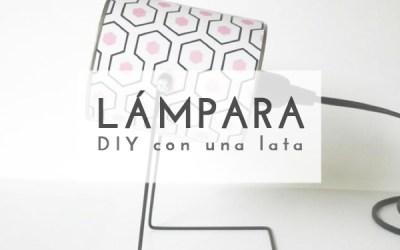 DIY LÁMPARA CON UNA LATA