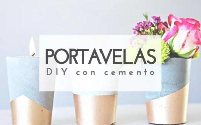 DIY  PORTAVELAS DE CEMENTO