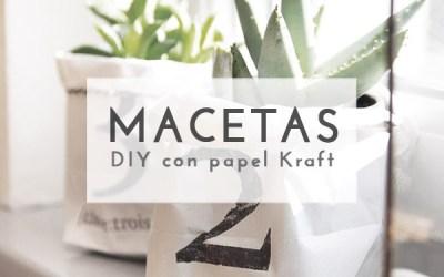 DIY MACETAS CON PAPEL KRAFT