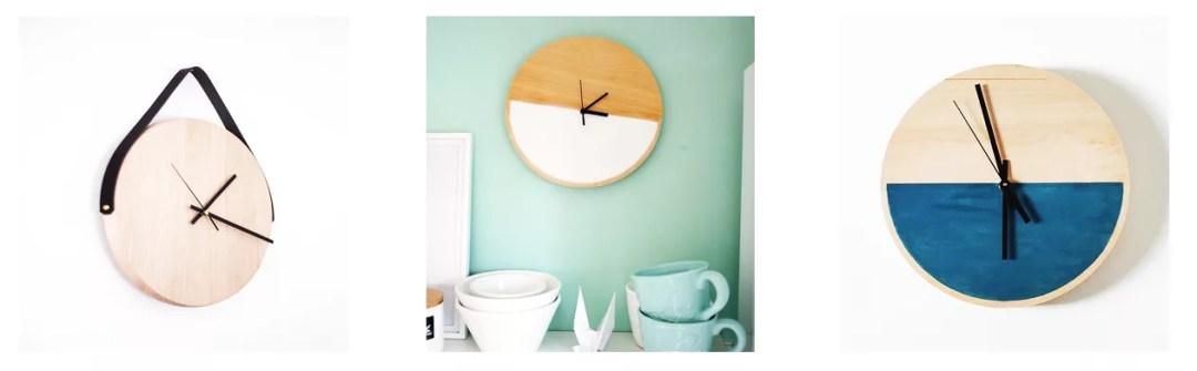 DIY reloj con madera