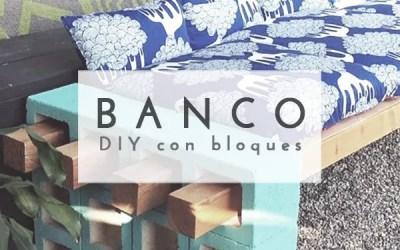 DIY BANCO CON BLOQUES DE CEMENTO