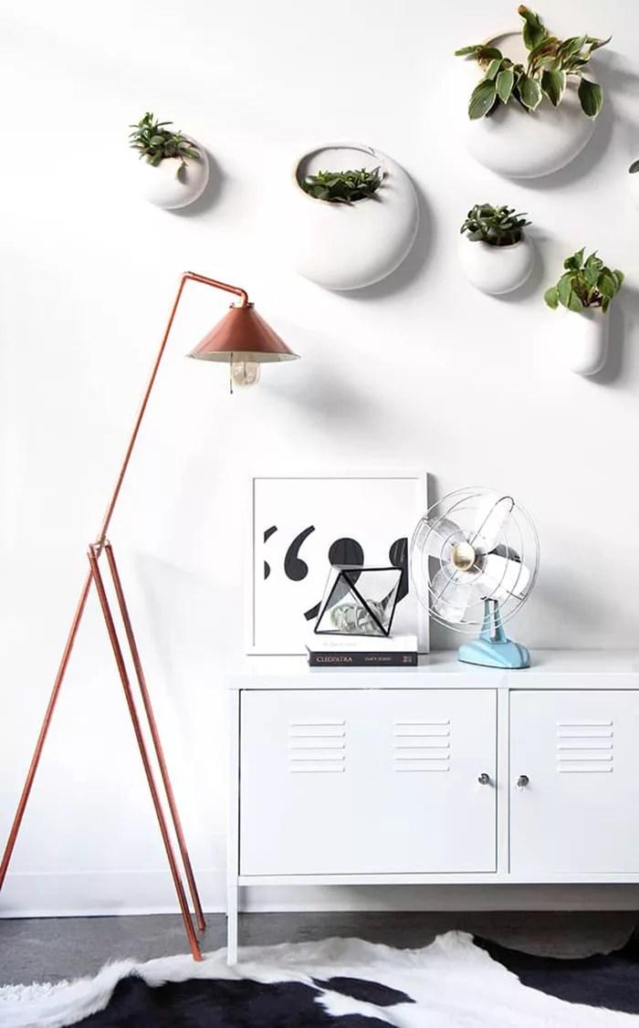 Lámpara DIY con tuberías
