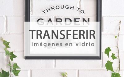 DIY TRANSFERIR A VIDRIO