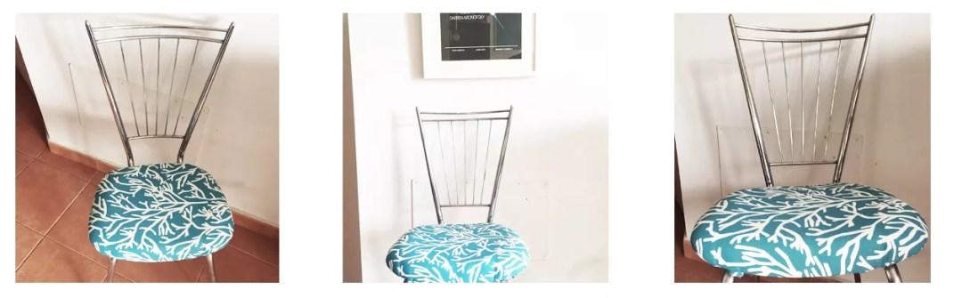 DIY silla de matal restaurada