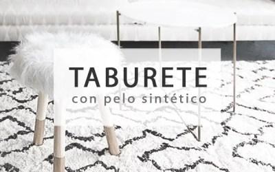 DIY TABURETE CON PELO