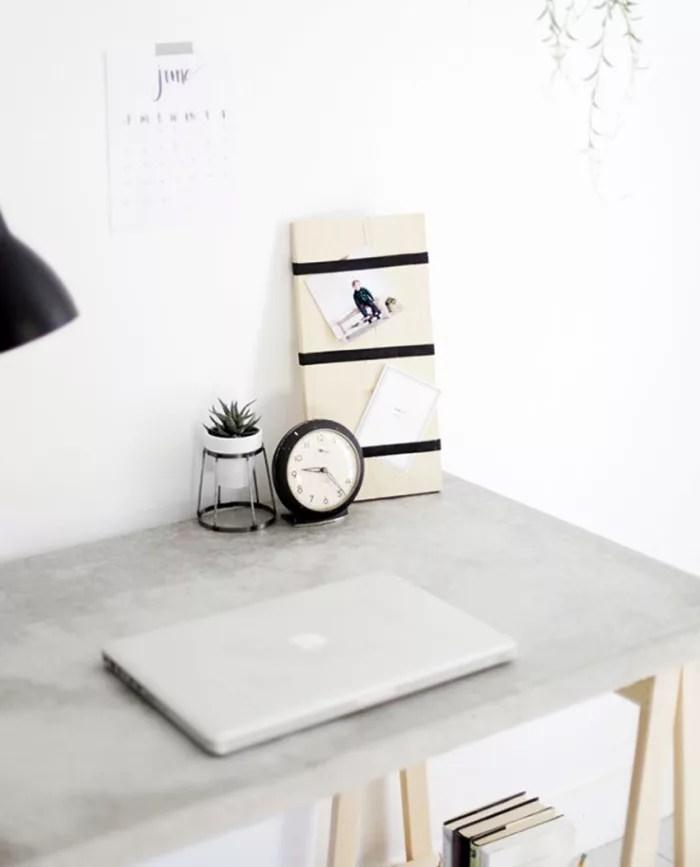 mesa diy con cemento