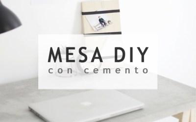 DIY MESA DE CEMENTO