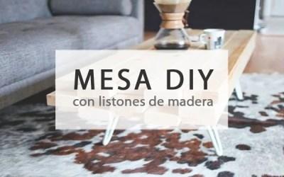 MESITA DIY CON LISTONES DE MADERA