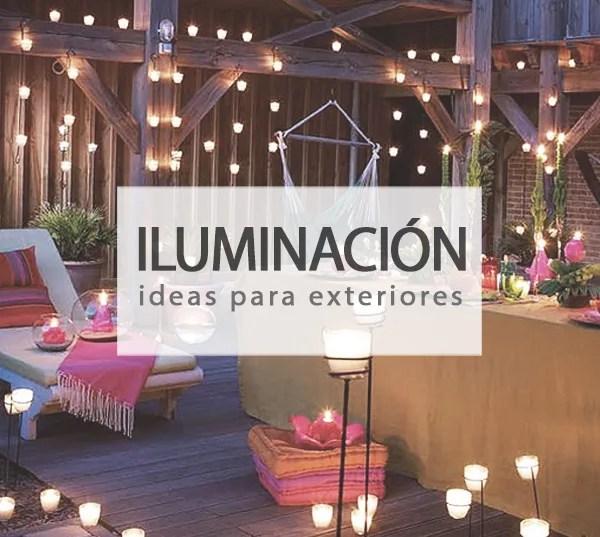 Ideas para iluminar tu terraza o jardín
