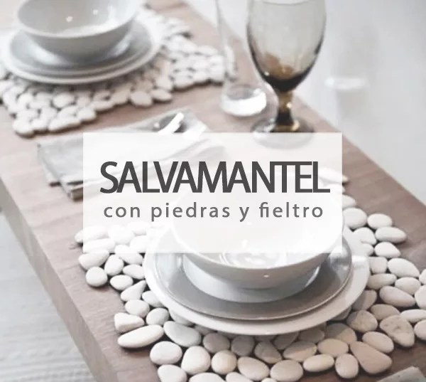 SALVAMANTEL DIY CON PIEDRAS