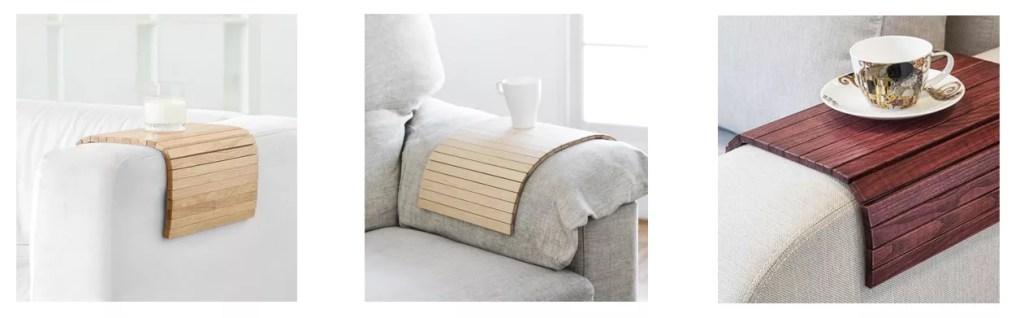 bandeja diy flexible para el sofá