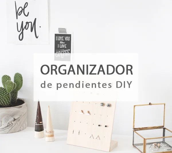 Organizador de pendientes DIY
