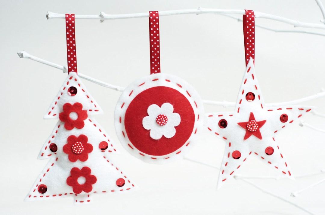 adorno de navidad DIY con fieltro
