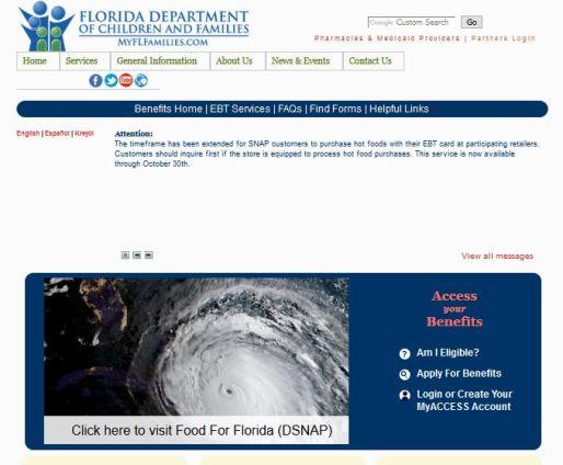 ACCESS Florida Benefits