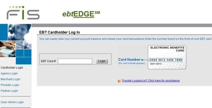 ebtEDGE Card Login