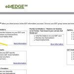 Login www.ebtEDGE.com To View EBT Account Balance and Transaction History.