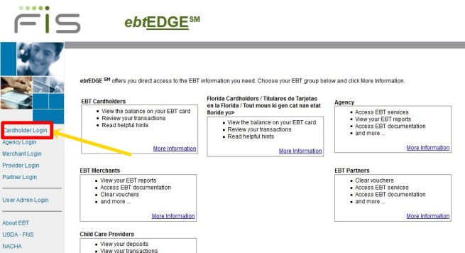 Login EbtEDGE To View EBT Account Balance