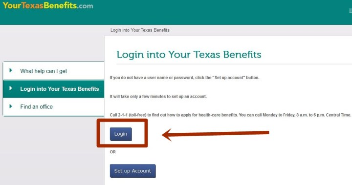 Yourtexasbenefits Login