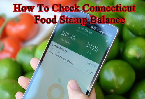 Check Connecticut Food Stamp Balance