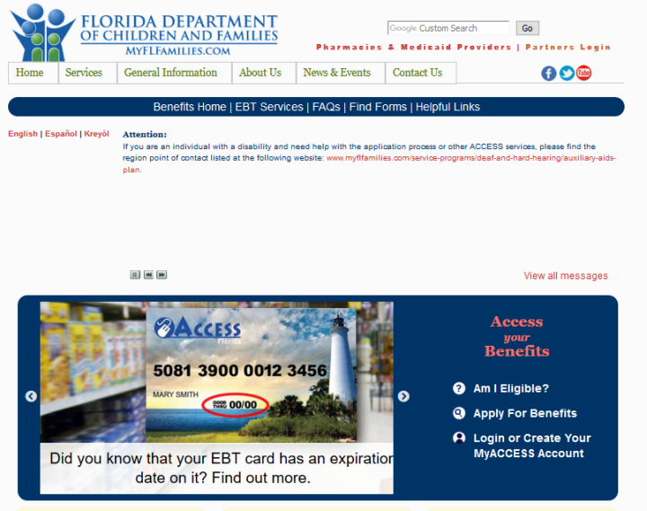 My Access Florida Contact Information