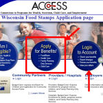 Wisconsin Food Stamps Application Online