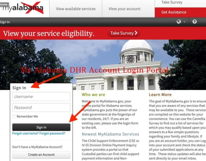 My Alabama DHR Account Login - www.myalabama.gov