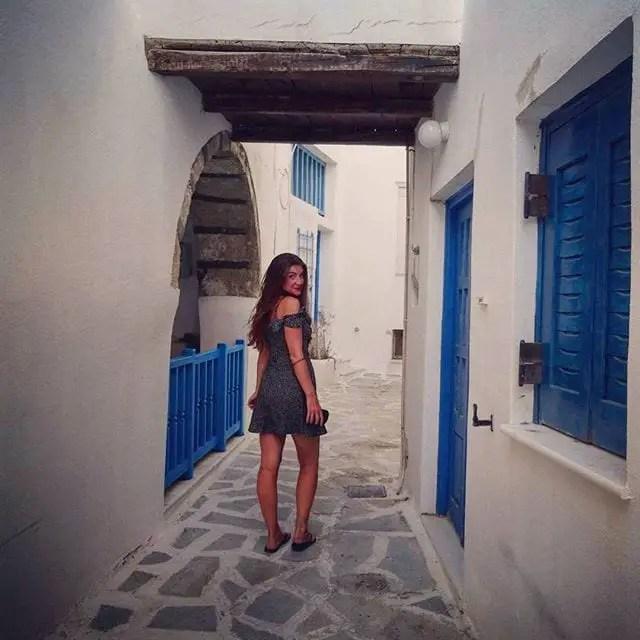 chora, naxos town, greece