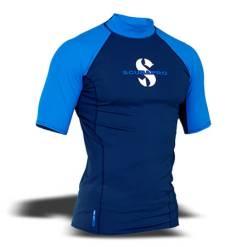 חולצת t-flex גברים, שרוול קצר, כחול
