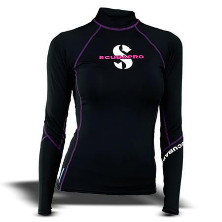 חולצת t-flex נשים, שרוול ארוך, שחור