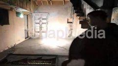 Air Pollution, Building, Concrete, Corridor, Door, Fire, Flare, Floor, Flooring, Housing, Human, Indoors, Interior Design, Leisure Activities, Light, Lighting, Outdoors, Smoke, Stage, Staircase