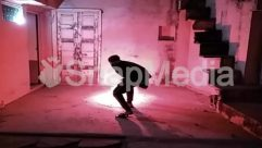 Banister, Bonfire, Building, Concrete, Corridor, Door, Festival Celebrate, Fire, Flame, Flooring, Home Decor, Housing, Human, Indoors, Interior Design, Leisure Activities, Light, Lighting, Night, Person, Room, Staircase