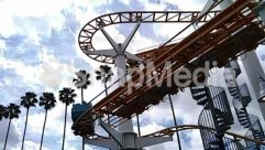 Adventure, Amusement Park, Arecaceae, Coaster, Construction Crane, Human, Leisure Activities, Palm Tree, Person, Plant, Roller Coaster, Theme Park, Tree