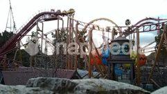 Amusement Park, Bridge, Building, Coaster, Construction Crane, Human, Person, Roller Coaster, Theme Park