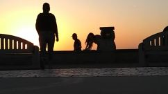 Human, Person, Nature, Outdoors, Sky, Sunrise, Elephant, Wildlife, Mammal, Animal, People, Silhouette, Horizon, Sunset, Red Sky