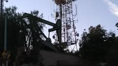 Electrical Device, Antenna, Building, Tower, Oilfield, Silhouette, oil pumpjack, radio tower