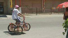 Person, Human, Transportation, Vehicle, Bike, Bicycle, Apparel, Clothing, Car, Automobile, Machine, Road, Tarmac, Asphalt, Wheel