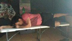 Furniture,Asleep,Sleeping,Person,Bench,Cushion,Chair,Head,Sitting