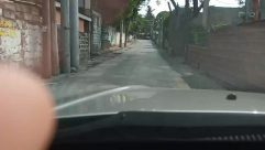 Town, Building, City, Urban, Road, Street, Alley, Alleyway, Person, Path, Plant, Neighborhood, Tree, Grand Theft Auto, Nature