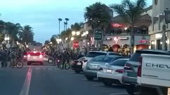 george floyd, Crowd, Protest, Automobile, Vehicle, People, Car, Bike, huntington beach, Bicycle, Motorcycle, Motor Scooter, Traffic Jam, main street
