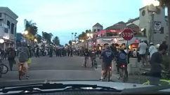george floyd, Pedestrian, Bicycle, huntington beach, Bike, Vehicle, Cyclist, Crowd, Police, People, Motorcycle