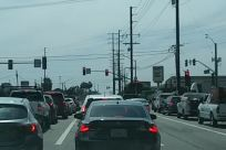 Light, Traffic Light, Automobile, Car, Vehicle, Road, Traffic Jam, Freeway, Highway, Truck, Intersection, Coupe, Sports Car, Pedestrian, Sedan